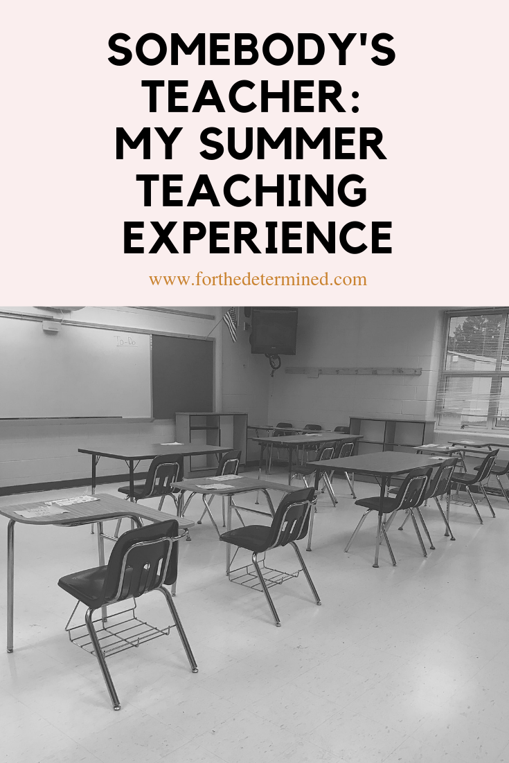 summer teaching experience